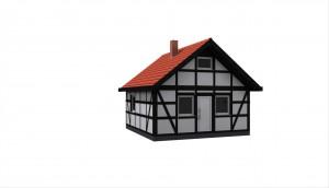 Kleines Fachwerkhaus - Kleinwohnhaus